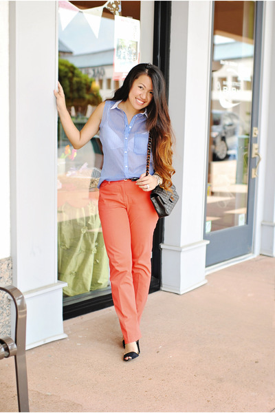 BCBG pants - Zara shoes - Chanel purse - Zara top