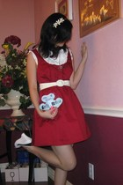 white Charlotte Russe - silver Forever 21 - red Forever 21 dress - white Forever
