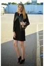 Black-ann-taylor-dress-black-raison-detre-jacket-beige-calvin-klein-bag