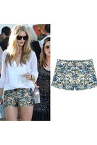 Femme Floral Print Slim Fit Shorts Hot Pants