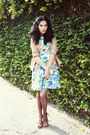 Light-blue-floral-diy-dress-tan-silk-vintage-shirt-dark-brown-unknown-tights