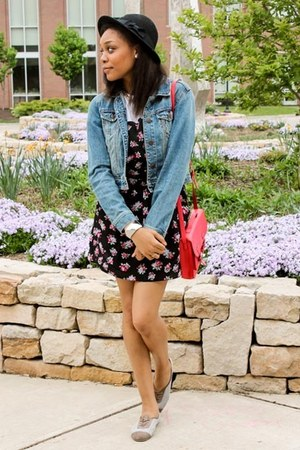 denim jacket denim jacket jacket - floral pinafore Floral Pinafore romper