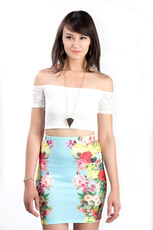 pencil Secret Garden Pencil Skirt skirt
