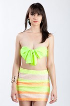 bow bandeau top