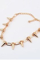 Gold Spike Metal Chain Necklace