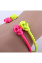 Punk Neon Bracelet with Skull Ends