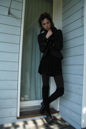 blazer - tights - shirt - shoes - socks