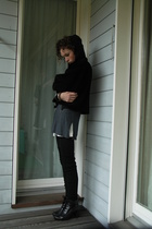 Gabor shoes - Selana shirt - H&M socks - H&M dress