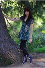 Green-lux-uo-dress-black-leggings-black-forever-21-shoes-gray-glasses-go