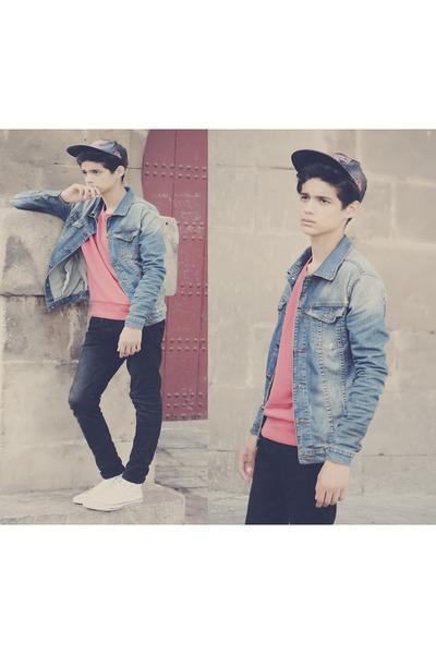 Converse shoes - H&M jeans - Zara jacket - Jack&Jones sweater
