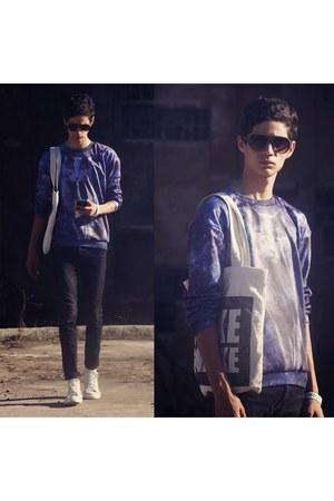 H&M jeans - wwwmrgugucom sweater - wwwsouvebigcartelcom bag
