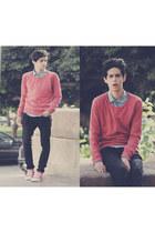 Converse shoes - H&M jeans - Jack&Jones sweater