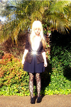 handmade skirt - supre blazer - morrissey belt - voodoo tights