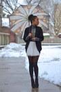 Black-wool-urban-outfitters-sweater-charcoal-gray-turtleneck-danier-sweater