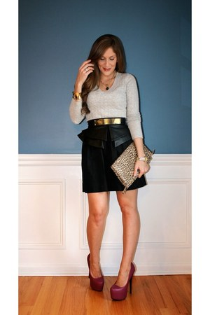 Old Navy sweater - Forever 21 bag - Charlotte Russe heels - kohls skirt