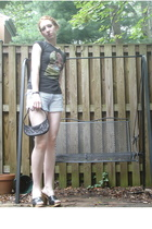 Ebay shirt - Tillys shorts - April Cornell purse - shoes