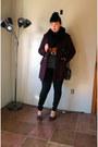 Wool-peacoat-black-rivet-coat-gojane-jeans-fox-print-target-sweater