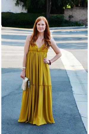 mustard maxi Gypsy Junkies dress