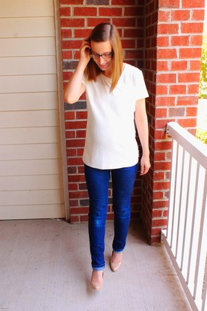 maternity destination maternity jeans - sequin Old Navy shirt
