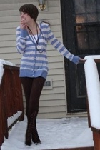 Old Navy shirt - Lucky Brand necklace - Target tights - vintage boots
