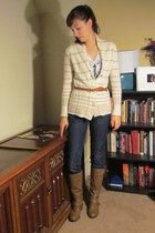 cream banana republic cardigan - light brown Target boots