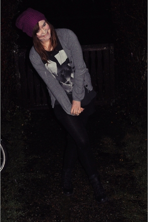 Indiska hat - H&M t-shirt - MQ sweater - Urban Outfitters boots