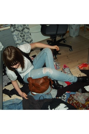 Cubus vest - Indiska t-shirt - GINA TRICOT jeans - Din Sko shoes - H&M accessori