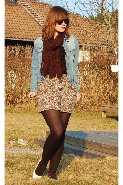second hand jacket - hlns skirt - Skopunkten shoes - borrowed scarf - Wedins sun