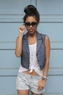 Aeropostale-shorts-lucca-couture-vest-h-m-sneakers-nordstrom-top