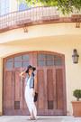 White-maxi-dress-ann-taylor-dress-black-crossbody-kate-spade-bag