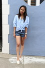Blue-lucca-couture-shorts-beige-soludos-shoes-blue-gap-blouse