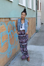 Purple-maxi-forever-21-skirt-blue-denim-aeropostale-vest