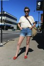Ruby-red-toms-shoes-blue-shorts-jeans-camel-bag-black-chanel-sunglasses-