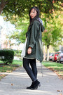 White-lace-forever-21-dress-army-green-parka-anorak-asos-jacket