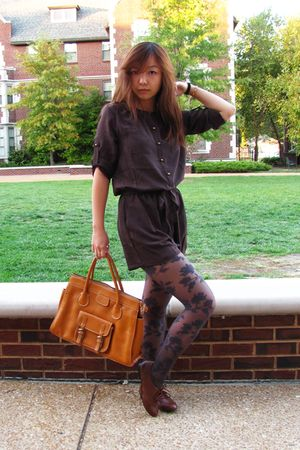 brown xhilaration shoes - gray Forever 21 tights - brown thrifted