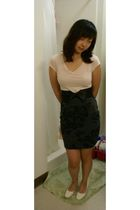 pink Forever 21 shirt - black Forever 21 belt - gray Forever 21 skirt - white pr