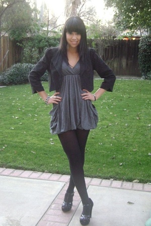 Frenchi jacket - Silence  Noise dress - H&amp;M tights - Steve Madden shoes - Marc J