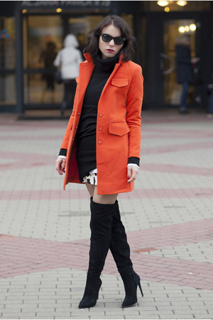 Sheinside coat - Zara boots