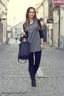 Charcoal-gray-terranova-blouse
