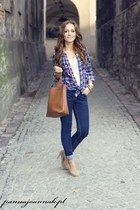 blue pull&bear blouse
