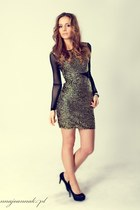 dark khaki reserved dress