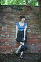 Urban Outfitters dress - H&M skirt - Target tights - Forever 21 shoes - vintage
