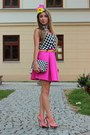 Black-reserved-shirt-hot-pink-mohito-skirt