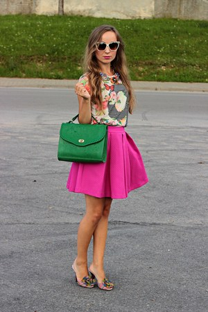 green house bag - hot pink Mohito skirt