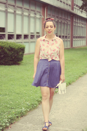 Urban Outfitters skirt - H&M bag - rainbow blouse