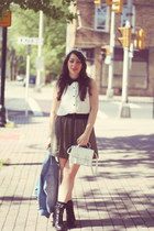 Urban Outfitters skirt - H&M bag - monteau blouse