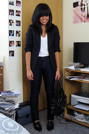 H&amp;M blazer - Mavi jeans - American Apparel t-shirt - asos shoes