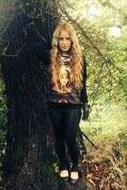 black River Island blouse - black River Island leggings
