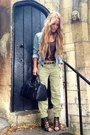 Olive-green-river-island-pants