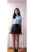 puce American Eagle skirt - dark khaki TJ Maxx boots